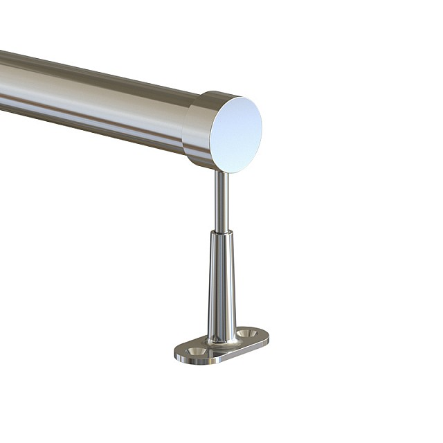 ADJUSTABLE TUBE SUPPORT D.25 WITH CAP - CHROME
